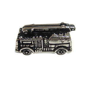 Black and Silver Toned Fire Truck Magnet
